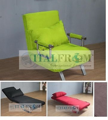Sofa bed single sofabed armchair microfibre Italfrom Design