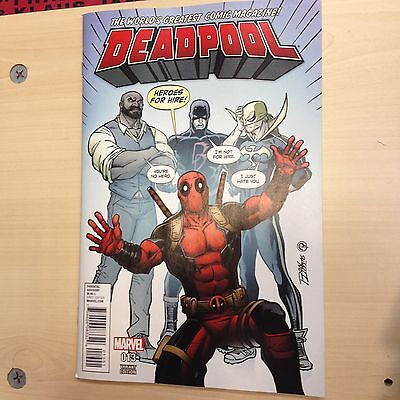 DEADPOOL # 13 Rare Ron Lim Heroes For Hire Variant Cover Marvel Comics 2016
