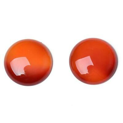 Pack of 3 x Red/Brown Carnelian 12mm Coin-Shaped Flat-Backed Cabochon CA16678-3
