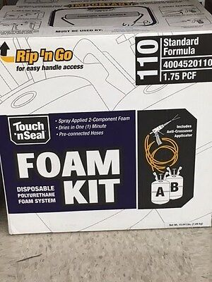 Touch 'n Seal U2-110 Spray closed Cell Foam Insulation Kit 110 BF