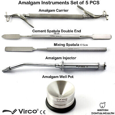 Amalgam Carrier Gun Cement Mixing Spatula Amalgam Well Pot Dental Lab - SAVE £15