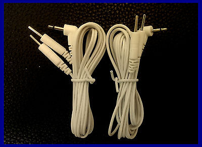 2.5 mm Male Plug TENS Machine Lead Wires Cables,1x Pair(2 Leads)