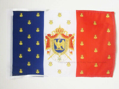 DRAPEAU ETENDARD DE NAPOLÉON III 45x30cm - PAVILLON SECOND EMPIRE FRANCE 30 x 45