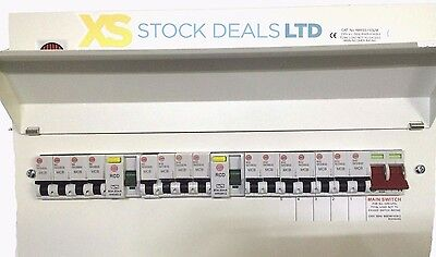 Wylex 15 Way Amendment 3 Metal Clad Dual RCD Consumer Unit +15 MCBS
