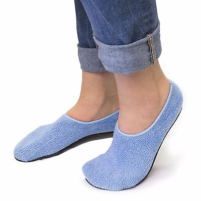 Teri-Treads Non-Skid Terry Adult Hospital Slippers - 2 Pairs