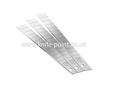 10 x 9mm SEGMENTED SNAP OFF blades in tube Stanley, MADE IN SHEFFIELD