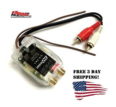 1 RCA GROUND LOOP ISOLATOR NOISE AUDIO FILTER for CAR STEREO EQ AMPLIFIER GL301