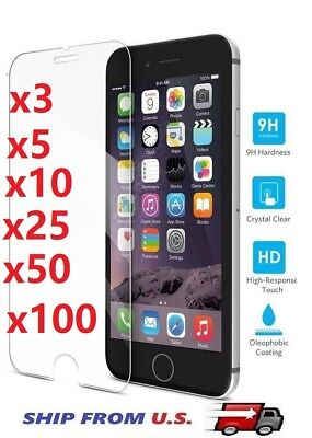 Tempered Glass Screen Protector for iPhone 6/6P 7/7P 8/8P X ,XS,XS MAX ,XR lot