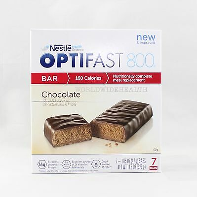 OPTIFAST® 800 MEAL REPLACEMENT BAR   Chocolate Bars   1 Box   Brand New Fresh