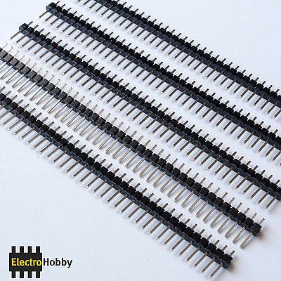 5x Tira 40 Pines Macho 2,54 mm - Pin header, Row Male - Electronica, Arduino