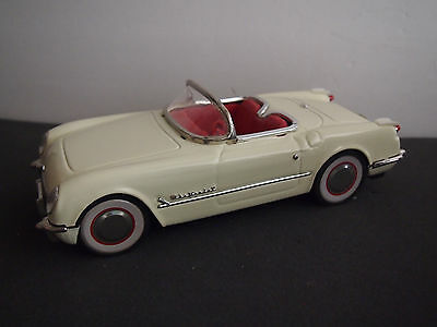 DELUXE OPEN SEDAN TIN FRICTION CAR Red CORVETTE Convertible