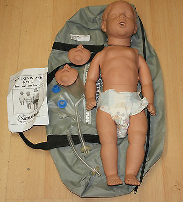 Simulaids Pediatric Kyle Child Trainer Manikin Airway Cpr Emt Als Pals Nurse