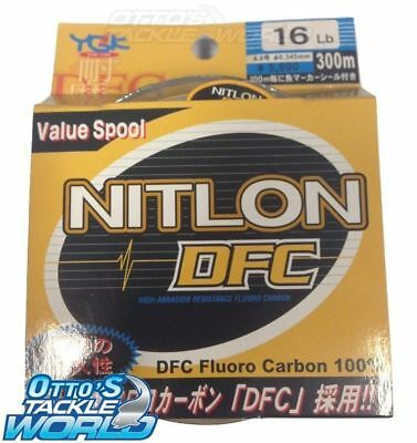 YGK Nitlon DFC Fluorocarbon Leader 300m Spool (Various Sizes) BRAND NEW at Ottos