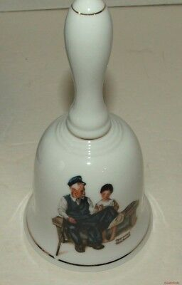 Collectible Norman Rockwell Lighthouse Keepers Daughter 1985 Porcelain Bell
