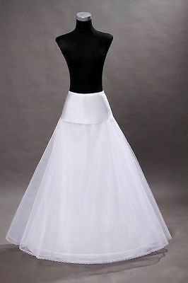 New White A-line 1-Hoop Wedding Dress Petticoat / Crinoline / Skirt Slip