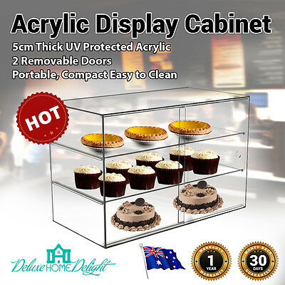 NEW Deluxe MaxMate Large Cake Bakery Pastry Muffin Acrylic Display Cabinet