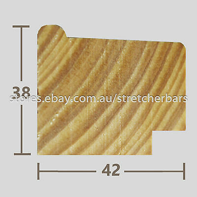 38mm Stretcher Bar Profile - 3.0m lengths - 8 pieces (24 metres)
