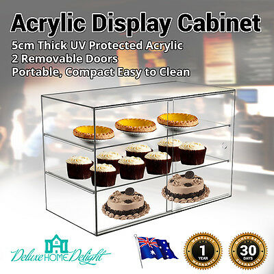 NEW Deluxe MaxMate Large Bakery Acrylic Display Cabinet Cakes Pastries Donuts