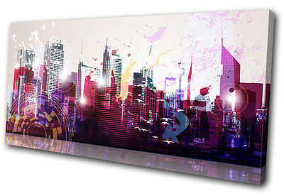 Canvas Art Picture Print Wall Hanging Photo Cityscape Skyline Abstract Urban