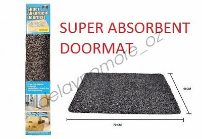 Clean Step Mat Super Absorbent Microfibre Non-Slip Doormat Absorbs Mud Water Rug