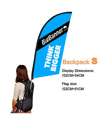 #1 Feather Shape, Shark, Straight  Flying Backpack Banner for Promotional Event