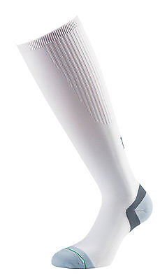 1000 Mile Compression Socks with padded heel and toe - White/Grey