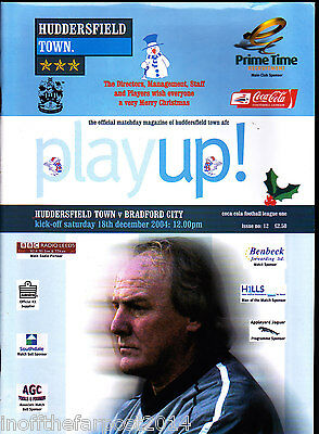 2004/05 HUDDERSFIELD TOWN V BRADFORD CITY 18-12-2004 League 1