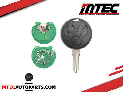 3 TASTI CHIAVE TELECOMANDO 433MHz CHIP SMART 450 FORTWO FORFOUR CITY ROADSTER