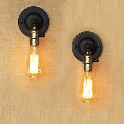 Vintage Retro Industrial Loft Modern Wall Sconce Wall Light Lamp Fixture Edison