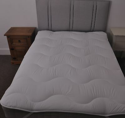 Slight Second  Quilted Allergy Free Single Double King Super Bed Mattress Topper