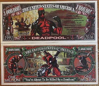 Deadpool Million Dollar Bill ( Marvel , Sony )