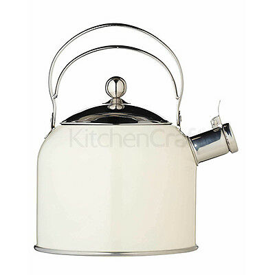 Kitchen Craft 2.3 L Classic Collection Whistling Kettle, Cream