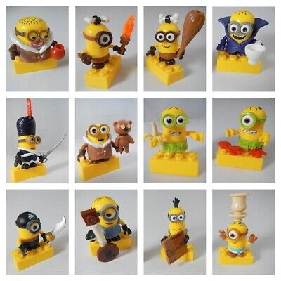 DESPICABLE ME Mega Bloks MINIONS Series 3 FULL SET of 12 MiniFigures Movie NEW