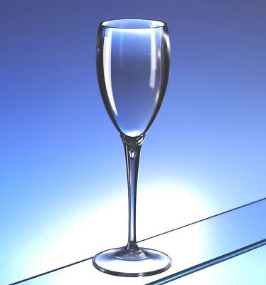 Premium Polycarbonate Champagne Flute Real Glass Look Unbreakable Pack of 6