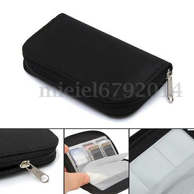 20Pcs Volume CF/SD/MS/DS Card Storage Bag Pouch Case Cover Holder Wallet UK