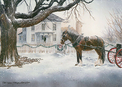 Horse and Carriage - Box of 18 Christmas Cards by LPG Greetings