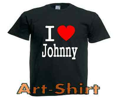 T-SHIRT personnalisé I LOVE JOHNNY taille S a XXL Johnny Hallyday Rock homme