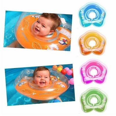 Baby Infant Swim Swimming Neck Float Inflatable Ring Adjustable Safety