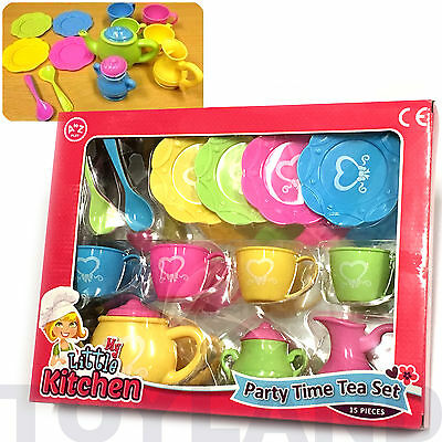 Party Time Tea 17 Set Role Play Toy Girls Dolls Picnic Christmas Stocking Filler