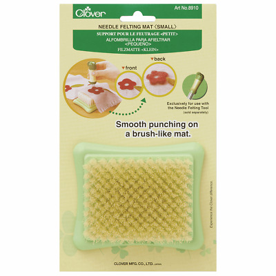 Hand Felting Needle Mat 7 x 9cm Brush Style for ease of Use by Clover - 1 Piece