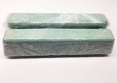 2 Pc Green Rouge Polishing Compound Buffing (Large 4 Lb) Made In Usa