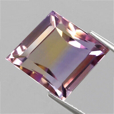 8.55 ct  VVS! Toller feiner 14 x 12 mm Bolivien Bi- Color Ametrin