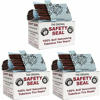 3 Box's Safety Seal Tire Plugs - Tubeless Tire Repair 4 Inch Long Brown 180 pcs