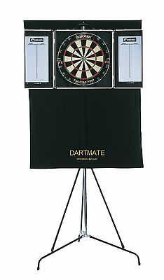 Unicorn Dartmate Complete Portable System. Board, Cabinet, Stand And More