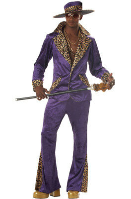 Brand New 70s & 80s Sweet Daddy Pimp Mens Adult Costume