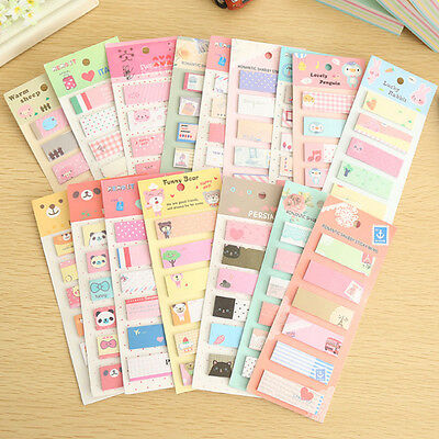 YH Cute 120 Pages Sticker Post It Bookmark Point Marker Planner Sticky Notes
