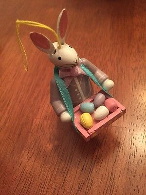 Kathe Wohlfahrt Easter Bunny Ornament Tray Of Easter Eggs