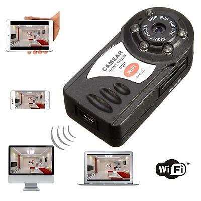 WIFI Mini DV IP Wireless Spy Cam Night Vision Camera Security For Android IOS AB