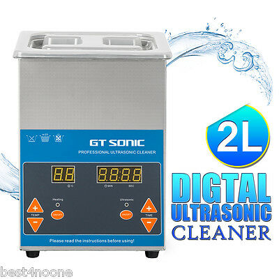 2L AC 220 ~ 240V Ultrasonic Cleaner Jewerly Dental Stainless Steel Tank Timer