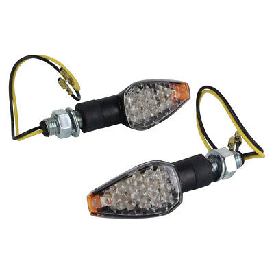 Ballards NEW MX Motorbike Motorcycle Turn Signal LED Clear Amber Indicator Set